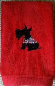 towel red Scot 2